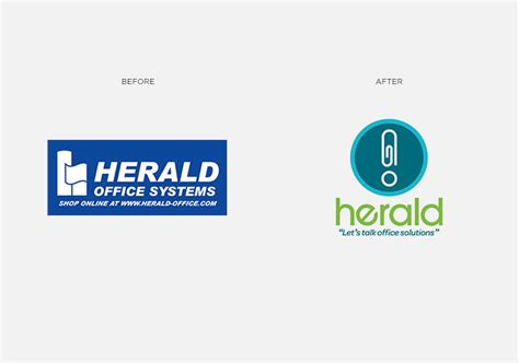Logsdon Office Supply by Herald Before And After Logo Rebrand