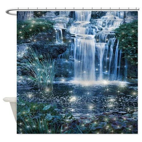 waterfall shower curtains magic waterfall shower curtain by fantasyartdesigns