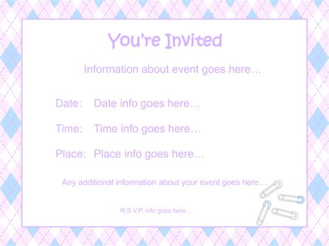 Baby Shower Invitations Free Printable Templates by Free Printable Template For Baby Shower Invitations