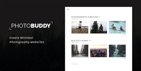 Photobuddy Photography Portfolio Gallery Minimal Html Template By Frenify Photography Portfolio Template