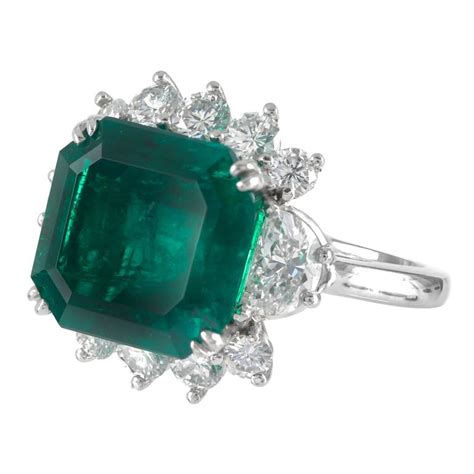 square emerald ring for sale at 1stdibs