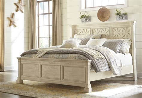 louvered bedroom furniture bolanburg white louvered panel bedroom set b647 54 77 96