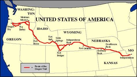 map of oregon trail in wyoming 9 1 a manifest destiny trails and america heads west