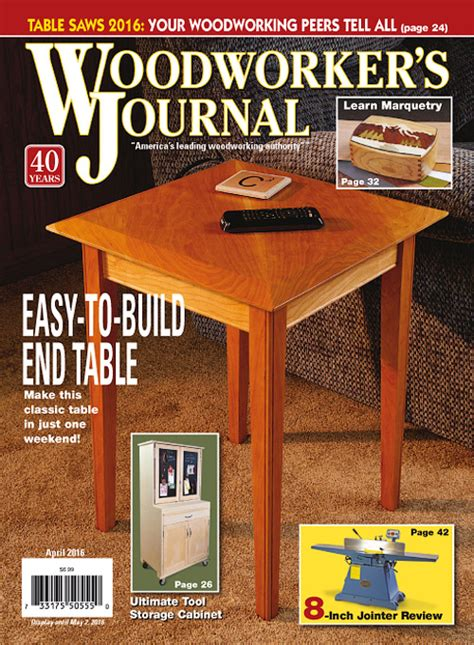 woodworker journal woodworker s journal march april 2016 187 pdf magazines
