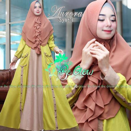 Gamis Toyobo Rempel syari yellow baju muslim gamis modern
