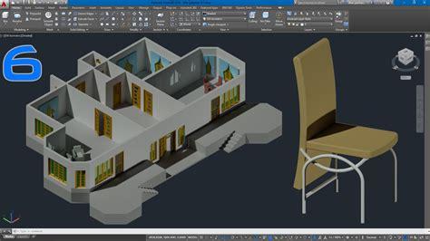 autocad 3d house modeling tutorial 6 3d home 3d building 3d floor plan 3d room youtube autocad 3d villa modeling lesson 6 3d chair drawing