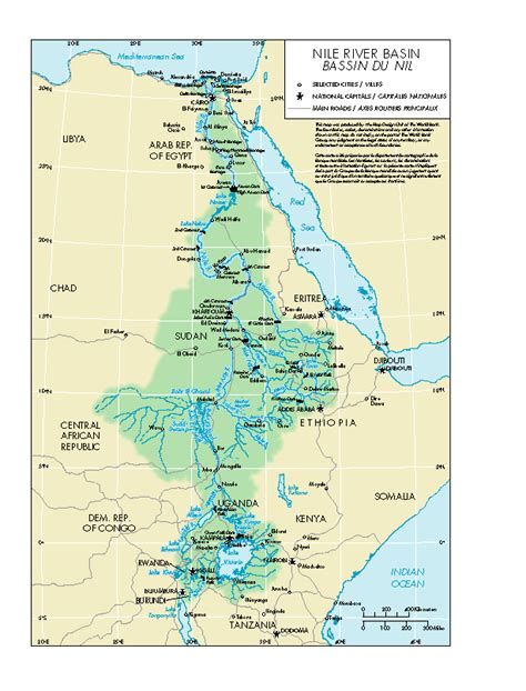 nile river on a map nile river map