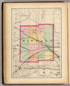 midland county map map of midland county michigan walling h f 1873