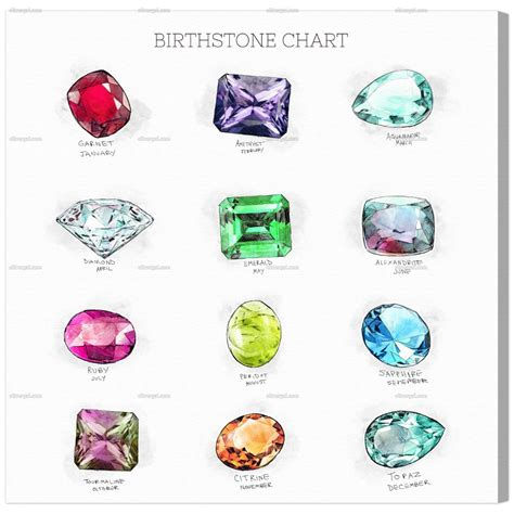 Nova Duvet Birthstone Chart Oliver Gal