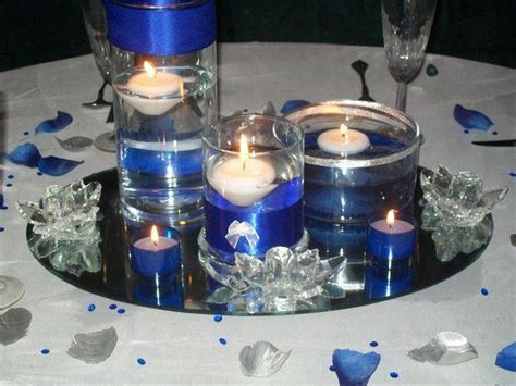 Photo via   Cobalt blue, Wedding and Centerpieces