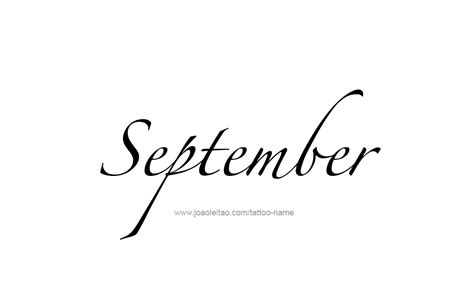 september tattoo september month name designs page 3 of 5