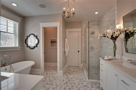 Master Bathroom Decor Ideas Small Master Bathroom Ideas Bathroom Traditional With Gray Tile Gray Counter
