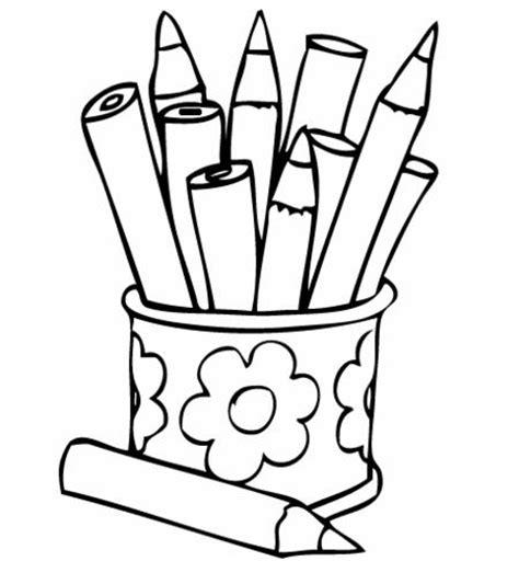 imagenes para pintar utiles escolares colores en caja para colorear imagui