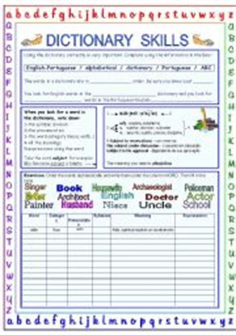 Dictionary Skills Worksheets by Teaching Worksheets Working With The Dictionary