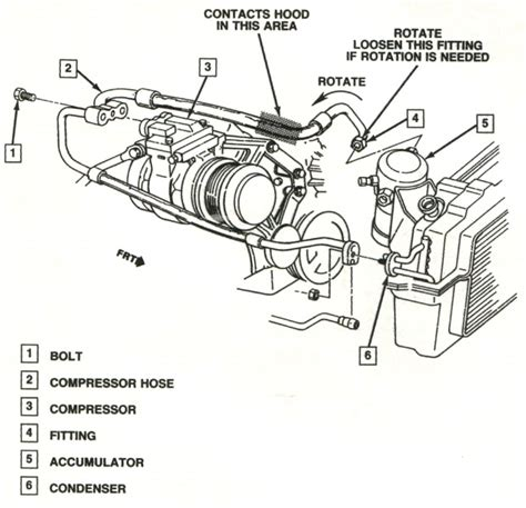 1988 1989 Corvette Hood Rubs Air Conditioning Hose