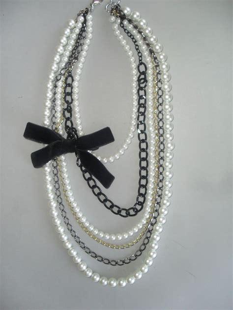 chanel collar collar tipo chanel de perlas blancas collares trendy