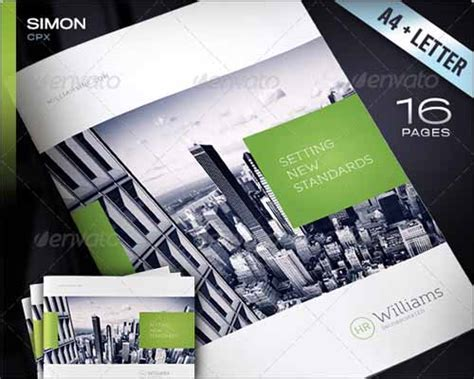 best photos of 4 page brochure template one page