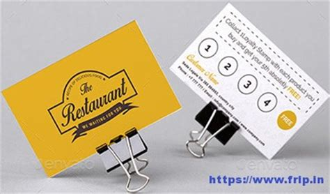15 Best Loyalty Cards Print Templates 2017 Frip In Restaurant Loyalty Cards Templates