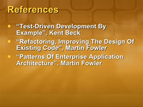 design pattern martin fowler test driven development introduction