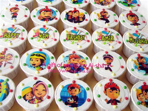 Topper Cupcake Boboiboy rapunzel figurine for cake ideas and designs