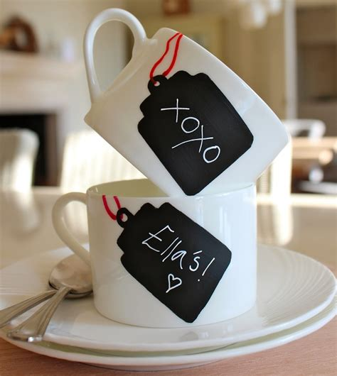 chalkboard paint mugs diy chalkboard paint ideas for home