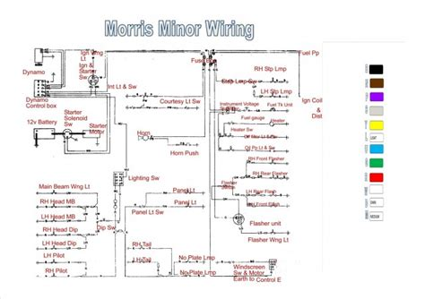 wiring diagram morris minor owners club