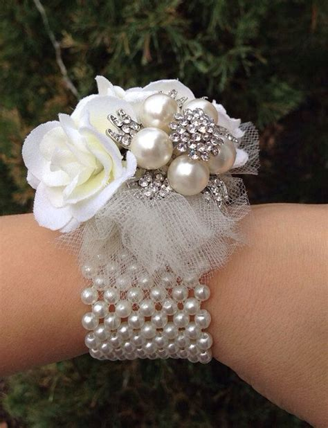 Handmade Corsage - 2 brooch wrist corsages beautiful and shopping