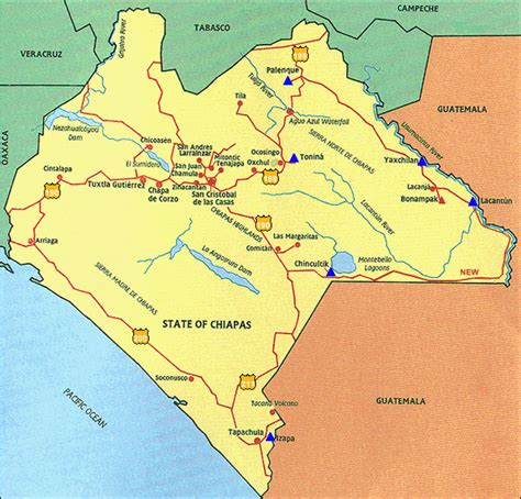map of mexico chiapas chiapas mexico map newhairstylesformen2014