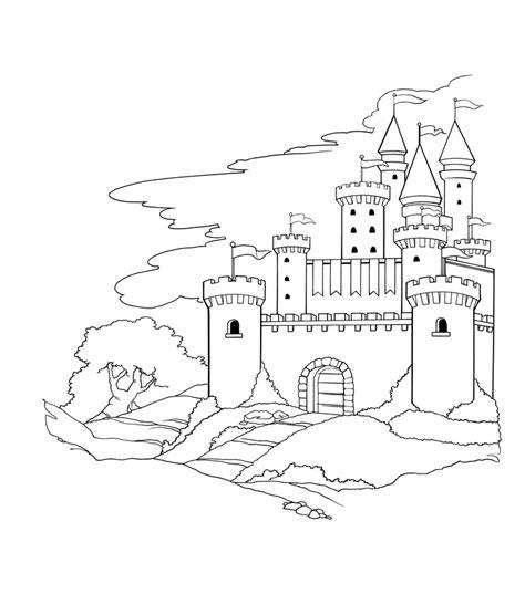 castle outline coloring page free magical castle coloring pages
