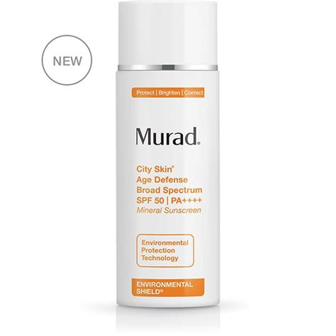 Murad Cityskin Detox Treatment by City Skin Anti Aging Sunscreen Lightweight Spf 50