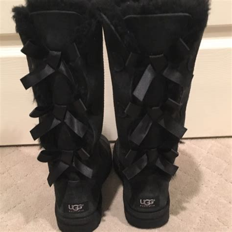 45 ugg shoes ugg black bailey bow boot custom