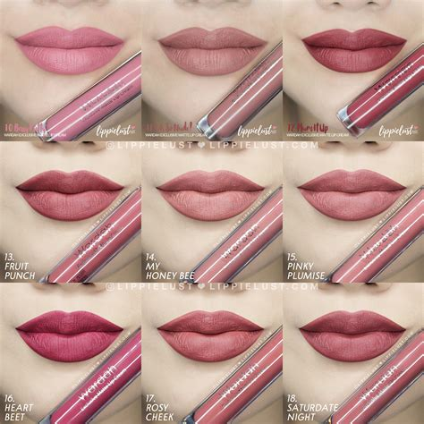 Wardah Matte 13 3 8g swatch review wardah cosmetics exclusive matte lip