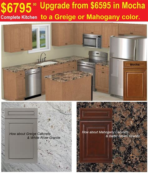 complete kitchen cabinet packages 6595 cabinets island granite countertops ss appliances