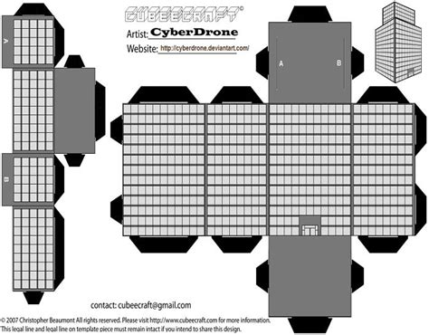 Building Paper Template Free Printable Papercraft Templates Free Building Templates
