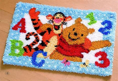 disney latch hook rug kits vervaco disney latch hook wall hanging kit pooh tigger