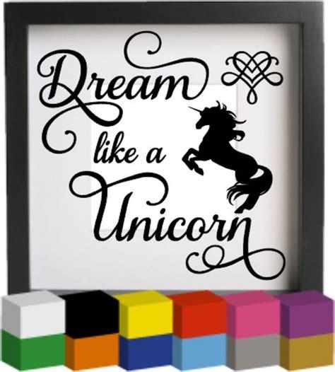 Christmas Wall Art Stickers dream like a unicorn vinyl glass block photo frame decal