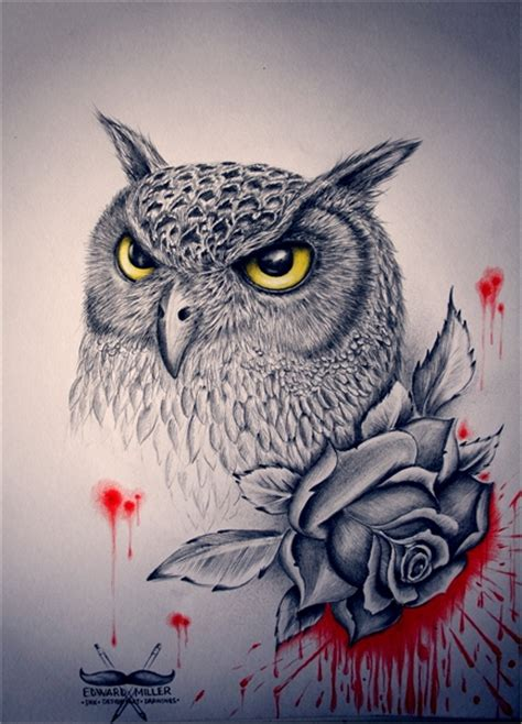 owl ink by edwardmiller on deviantart
