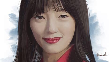 korean actress lee el 디지털페인팅 배우 이엘 그리기 korean actress lee el painting youtube