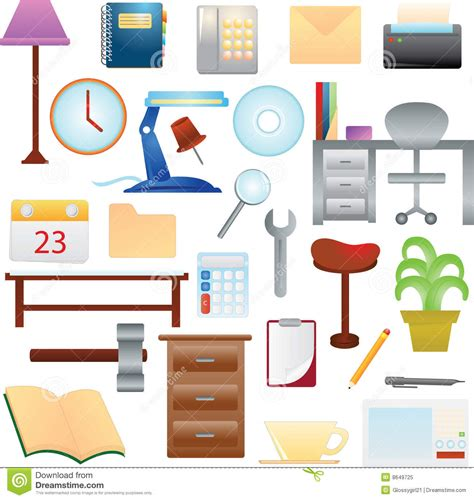 household items household items stock vector illustration of folder