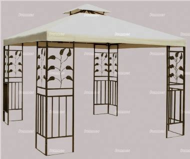 Leaf Pattern Gazebo | metal gazebo 140 hipped roof leaf motif