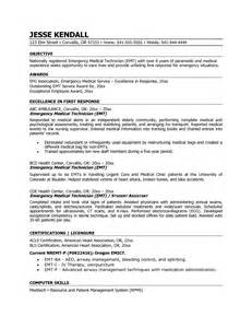 Er Technician Sle Resume by Emergency Technician Resume Objective Emergency Essayhelp473 Web Fc2