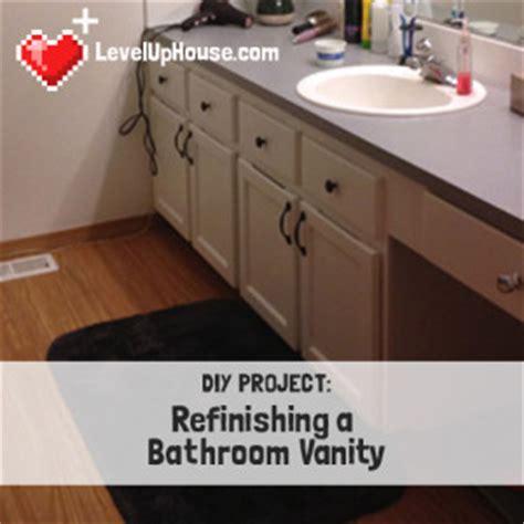 How To Refinish Bathroom Vanity by Refinishing A Wood Bathroom Vanity Part 1 Preparation