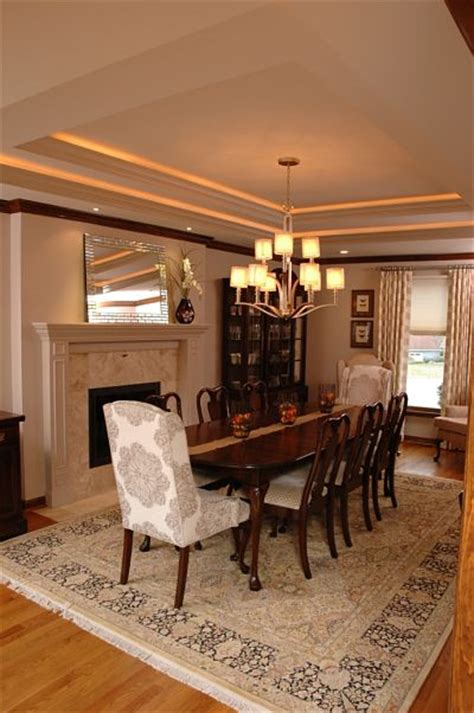 Gray Dining Room With Tray Ceiling The Interior Colors For 2014 The Cool Neutrals