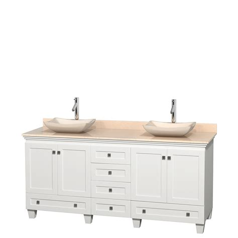 Bathroom Vanity 72 Inch Wyndham Collection Wcv800072dwhivgs2mxx Acclaim 72 Inch Bathroom Vanity In White Ivory