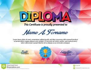colorful certificate template diploma certificate template with colorful frame for