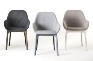 fauteuil rembourr 233 clap tissu pieds plastique graphite pieds tourterelle kartell