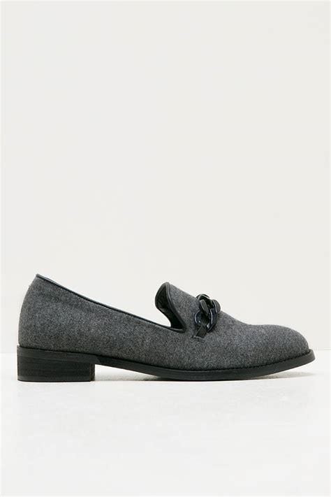 Sepatu Casual Vans Kain Abu Abu sell candice loafers grey loafers berrybenka