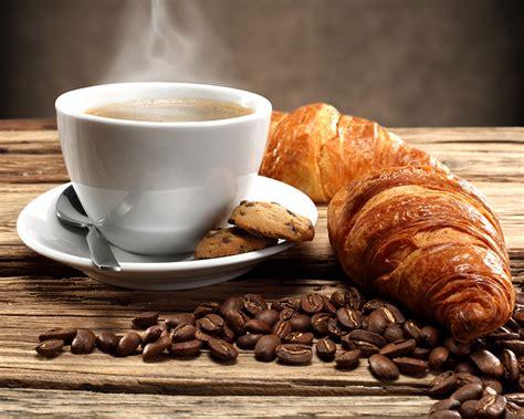 coffee breakfast wallpaper wallpaper coffee breakfast croissant grain cup food vapor