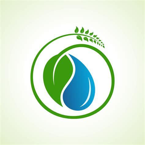 free logo design and save save water with eco design logo vector 01 vector logo