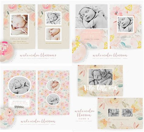 whcc boutique card templates 78 best images about birth announcements on